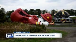 Wind picks up bounce pad in Niagara County
