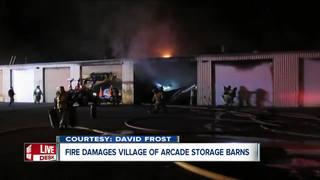 Fire damages Village of Arcade storage barns