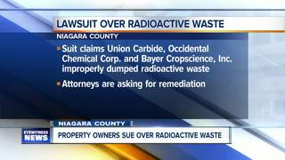 Radioactive waste at center of federal lawsuit