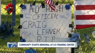 Memorial at K-9 training facility honors Lehner