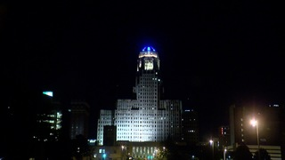 WNY supporting fallen officer with blue lights