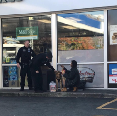 BPD officers buy food for homeless woman's dog