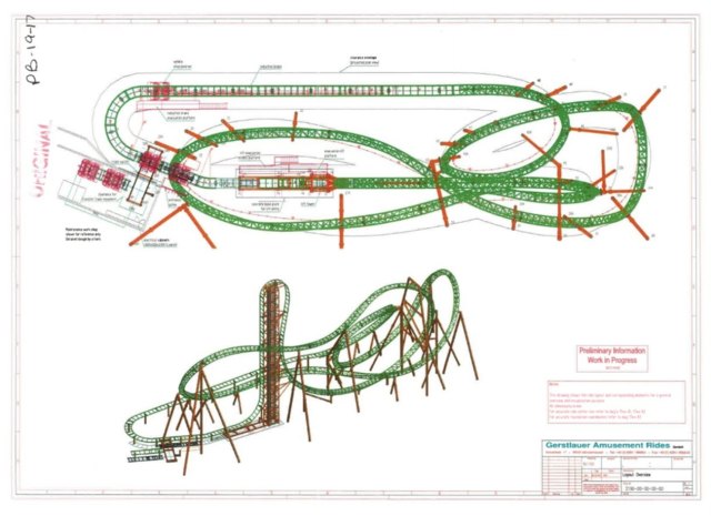 darien lake unveils plans for new vertical drop roller coaster