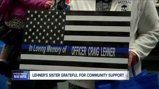 Lehner's sister grateful for community support