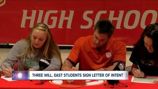 Will. East trio signs their letters of intent