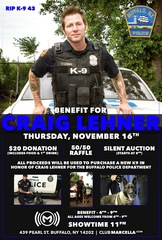 Friends host benefit to honor Officer Lehner