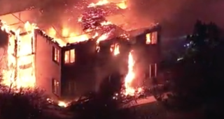 Massive fire forces seniors into cold, 20 hurt