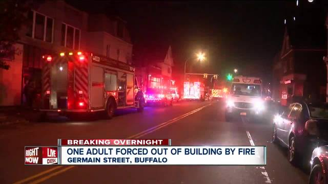 Red Cross helping at least one person after fire