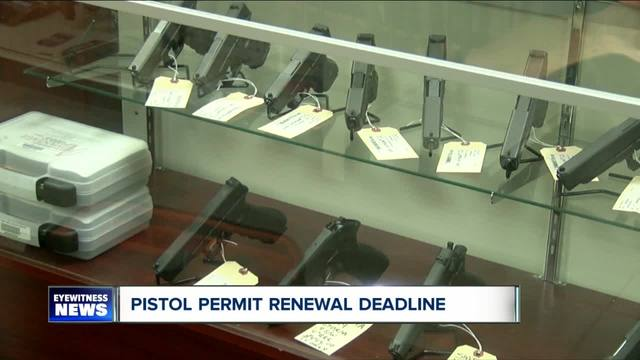 Deadline looming for pistol permits