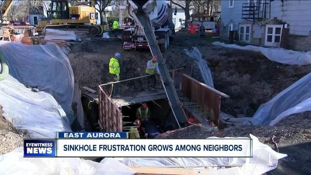 Sinkhole frustration grows among neighbors in East Aurora