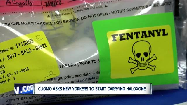 Cuomo asks New Yorkers to carry naloxone