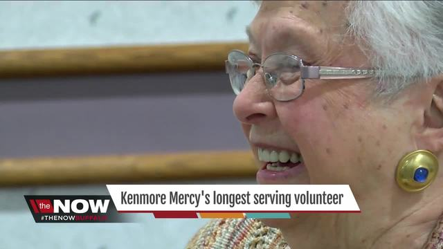 Honoring Kenmore Mercy Hospital-s longest serving volunteer