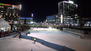 Canalside ice rink opens early