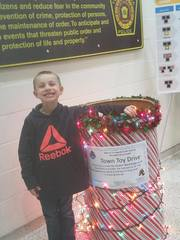 Tonawanda Police thank boy for help in toy drive