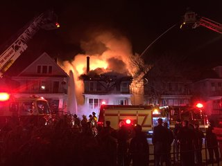 Fire causes roof collapses inside Buffalo home