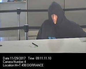 Buffalo Police search for bank robbery suspect