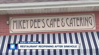 Restaurant reopening after sinkhole
