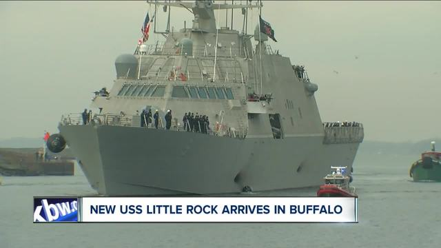 the new uss little rock arrives in buffalo