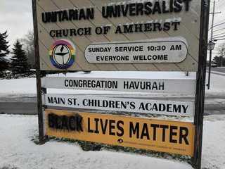 Black Lives Matter sign vandalized at WNY church