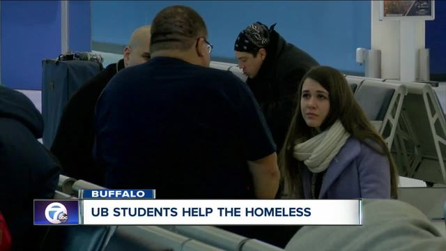 university at buffalo students help the homeless