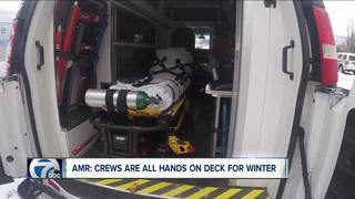 AMR crews say snow will not slow them down