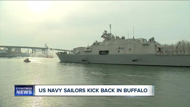 U-S- Navy sailors take time to experience Buffalo