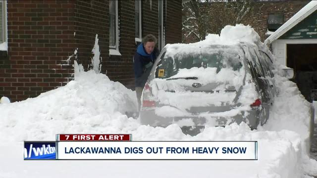 Lackawanna snow dig out