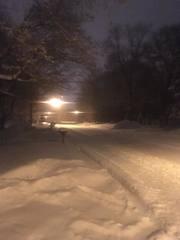 Overnight snow causes slick morning roads