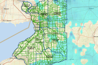 Snowy streets tracked on Erie Co website