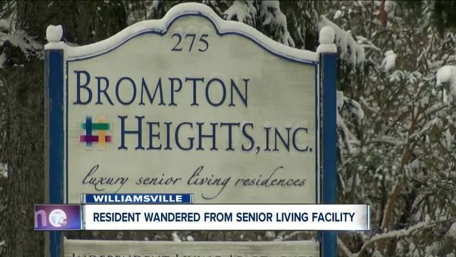 Resident wandered from Williamsville assisted living center- state investigating