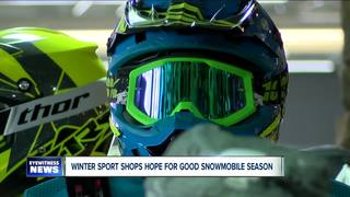 Snowy December boosts business for winter shops