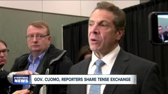 Cuomo has tense exchange regarding sexual harassment