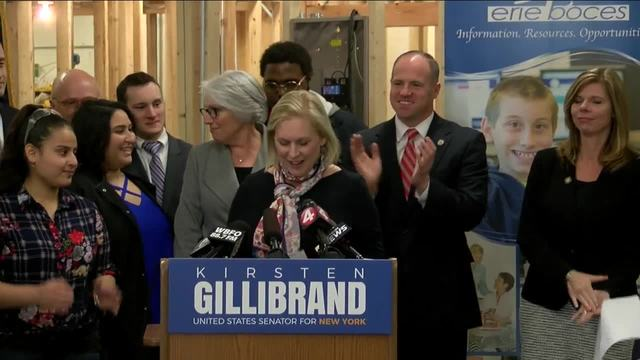 Gillibrand on Trump contributions, whether she's reconsidering White House bid