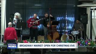 Broadway Market opened Sunday for Christmas Eve