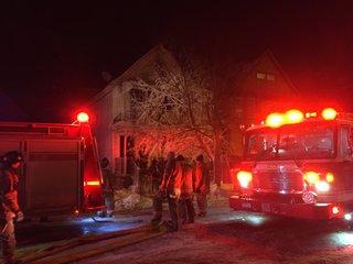 West Side fire sends two firefighters to ECMC