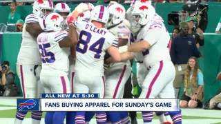 Fans flocking to stores for Buffalo Bills gear