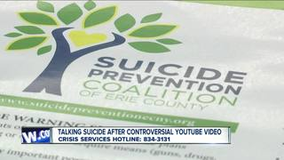 Talking about suicide following YouTube video