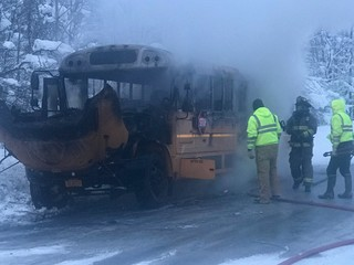 Bus driver saves children from bus about to burn