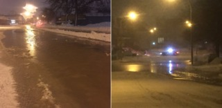 Water main break closes west side of Hertel Ave