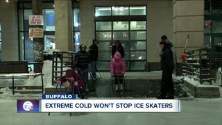 Extreme cold won't stop ice skaters