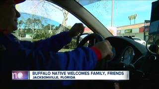 Buffalo native welcomes family, friends