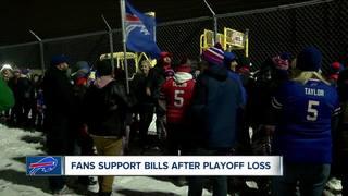 Fans greet Buffalo Bills after playoff loss