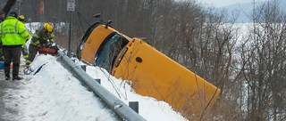 Driver charged in Catt Co school bus crash