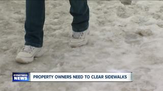 Property owners need to clear sidewalks