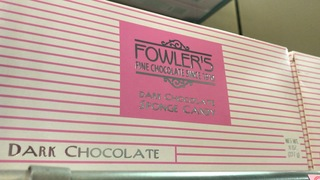 The best sponge candy comes in a pink box!