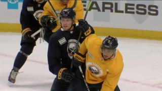 Tempers flare for Kane & Falk at Sabres practice