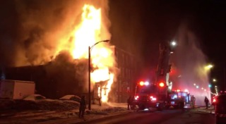 Fire causes partial collapse of Buffalo building
