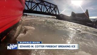 Breaking ice on the Edward M. Cotter Fireboat