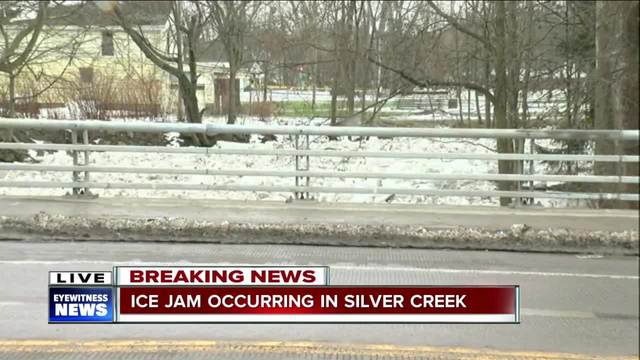 Ice Jam Reported In Silver Creek; Flood Warning Issued