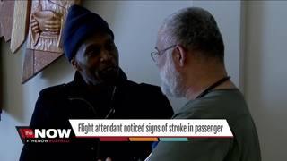 Flight attendant noticed signs of stroke